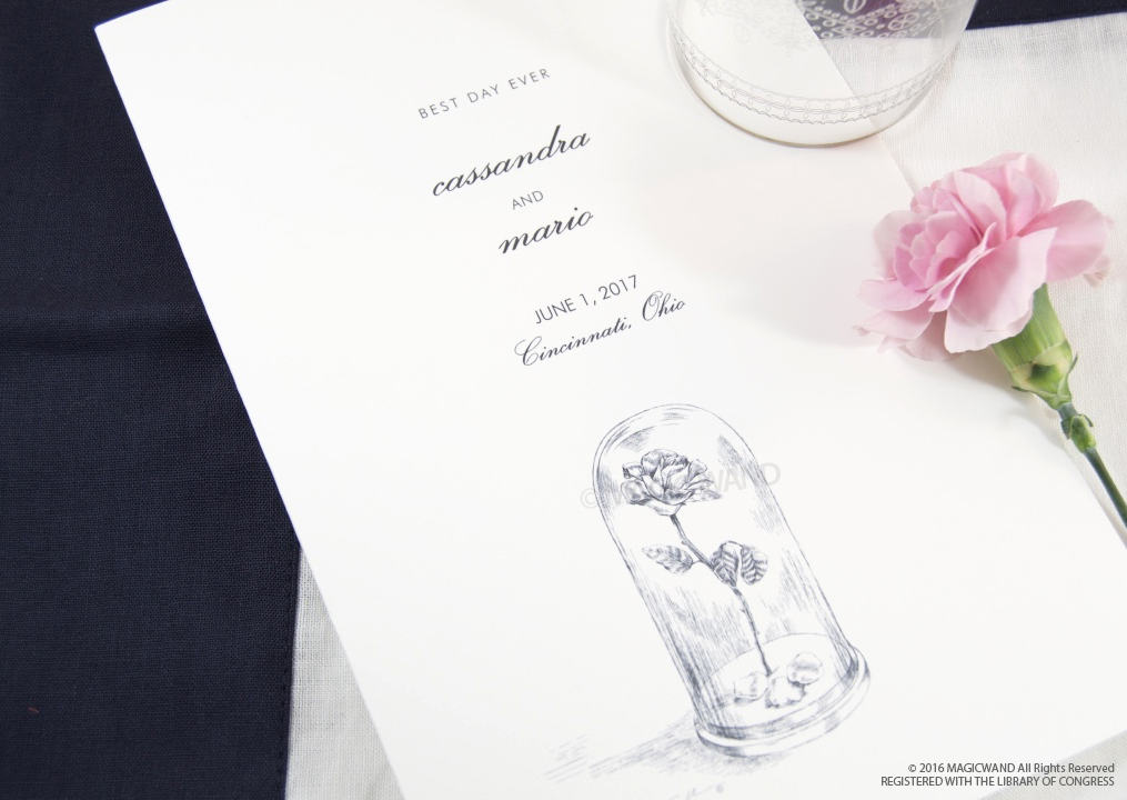 Beauty And The Beast Fairytale Wedding Programs