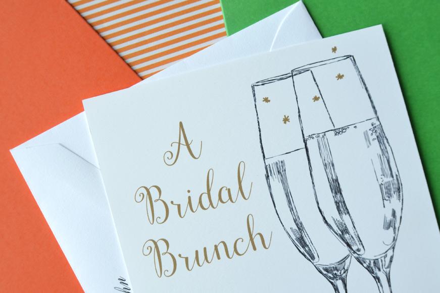 Champagne Glasses Bridal Shower Invitation Champagne Brunch