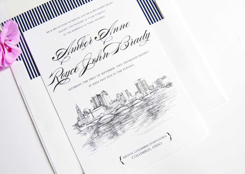 Ohio Skyline Wedding Invitations