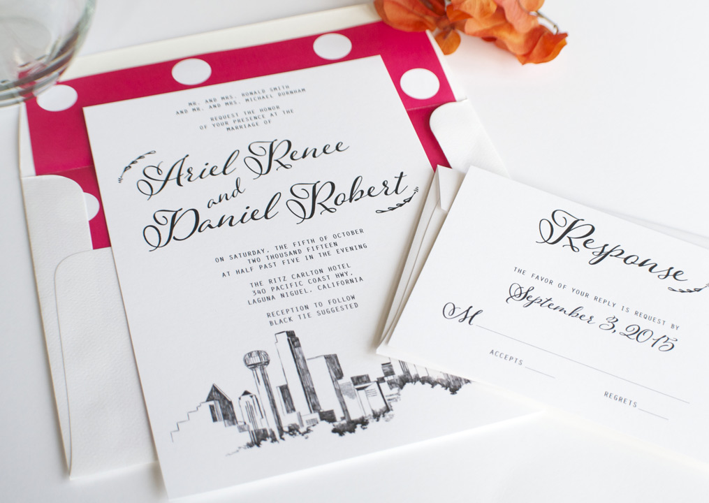Wedding Invitations Dallas Wedding Invitations Dallas Grey