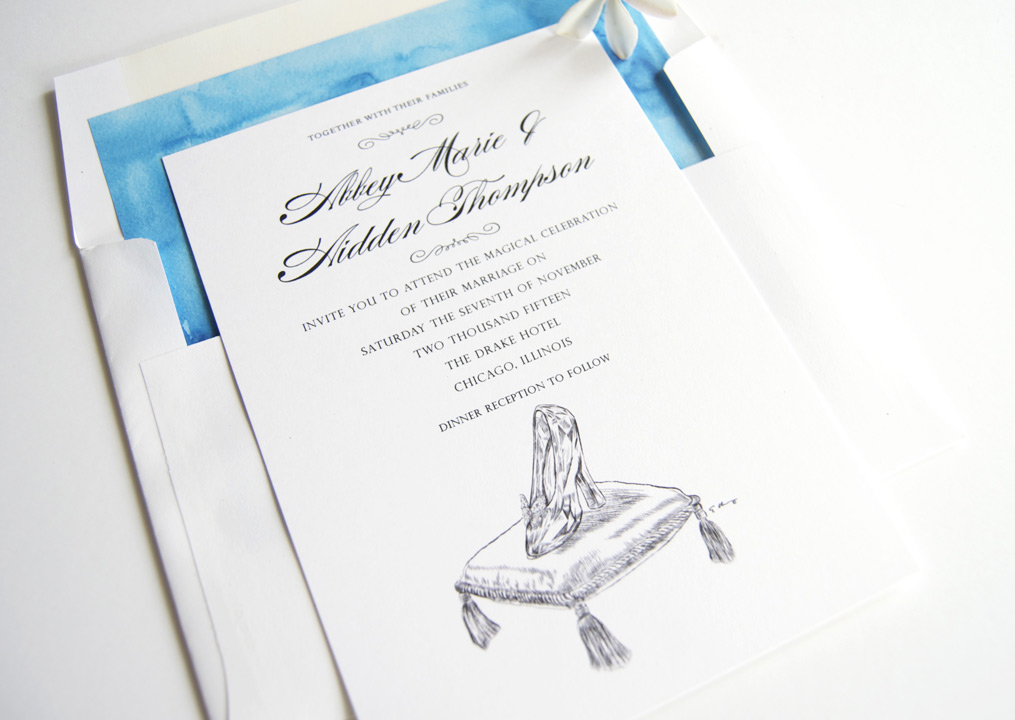 Disney Cinderellas Glass Slipper Fairytale Wedding Invitations