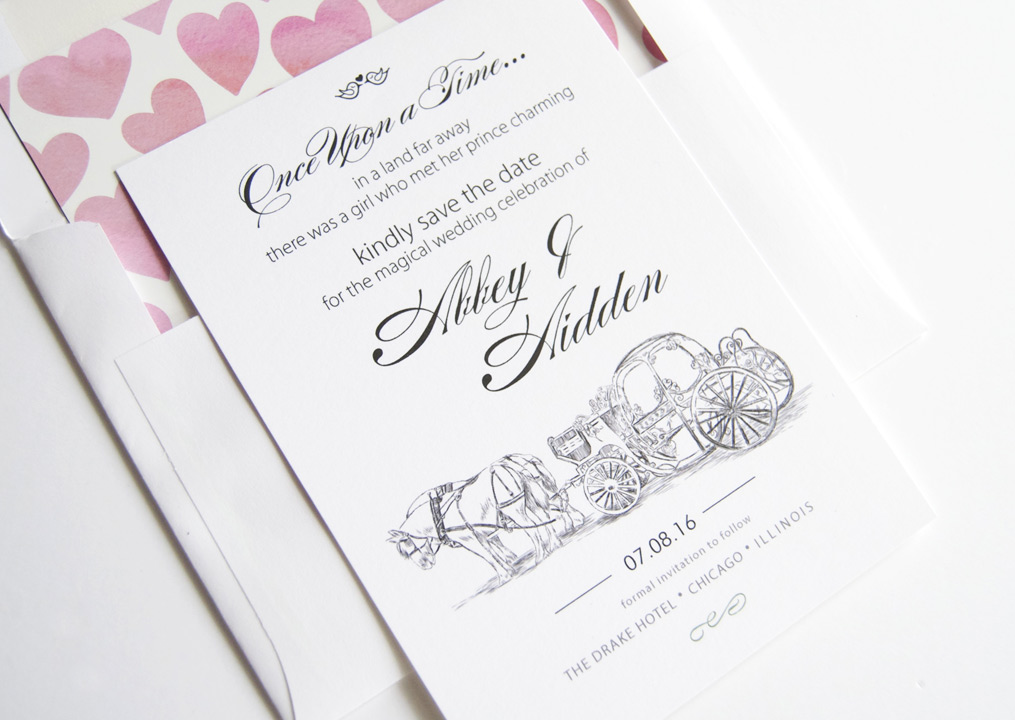 Disney Cinderella S Carriage Fairytale Save The Date Cards
