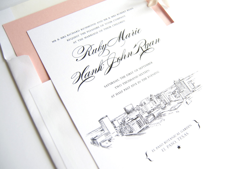 El Paso Skyline Wedding Invitations