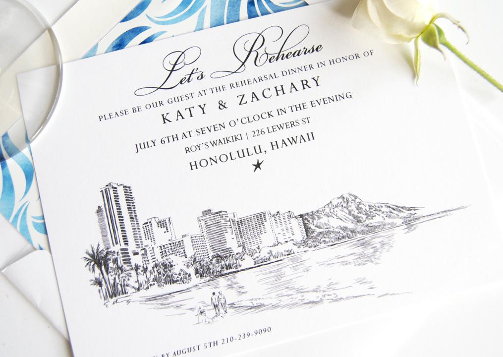 Hawaii Rehearsal Dinner Invitations