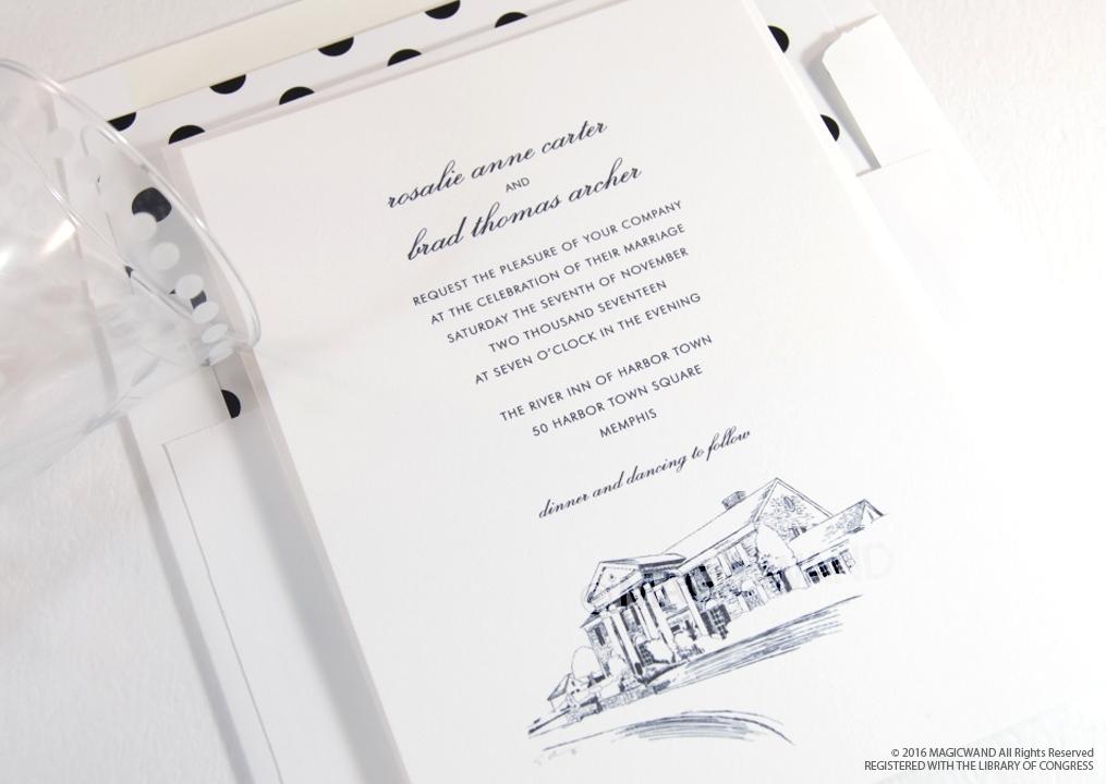 Wedding Invitations Memphis Tn: Graceland Skyline Wedding Invitations