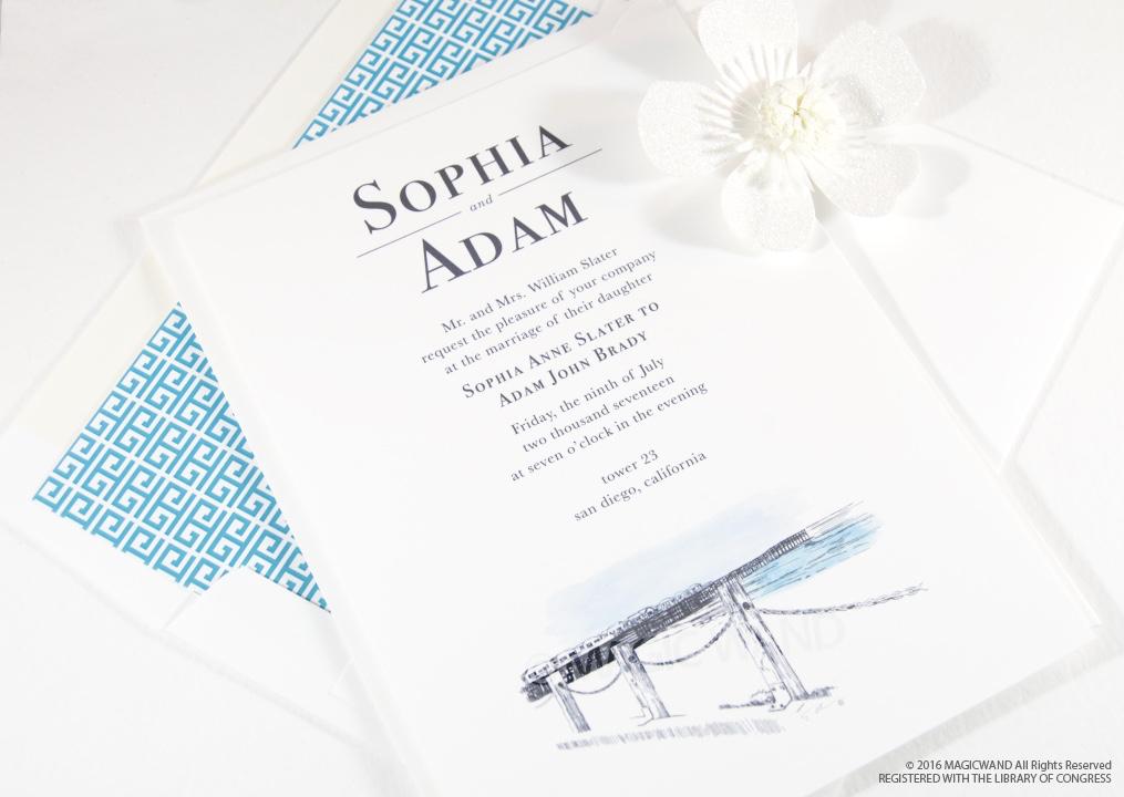 Elegant Skyline Wedding Invitations | Save The Dates
