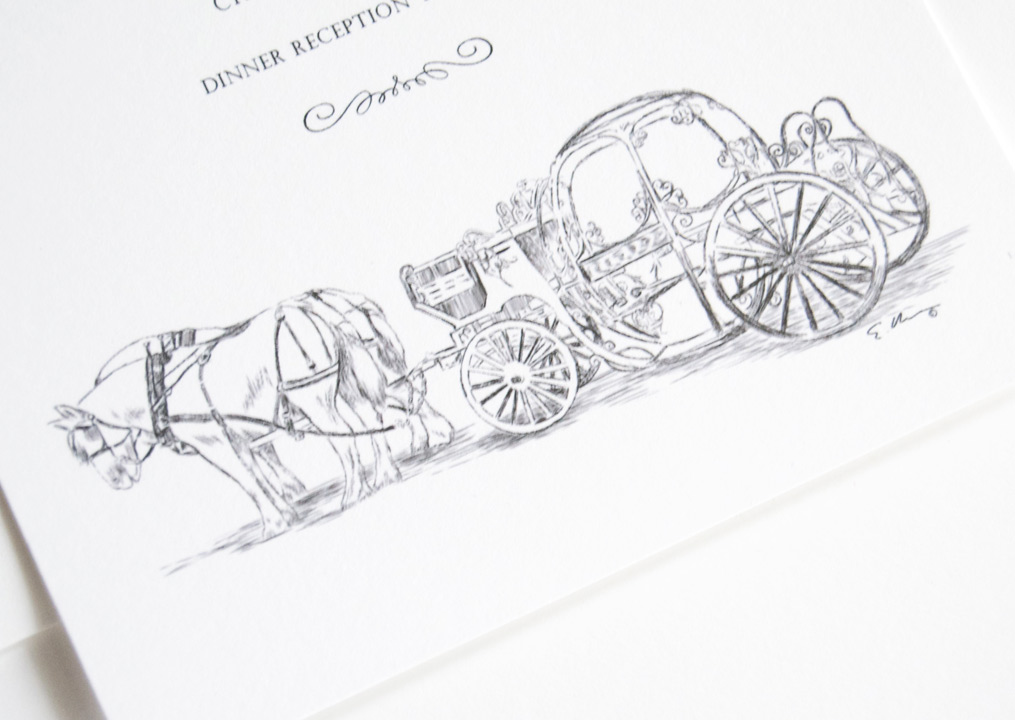 Disney Cinderella\'s Carriage Fairytale Wedding Invitations