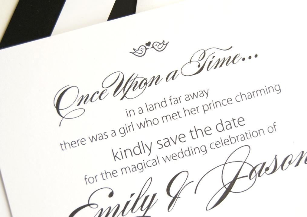 Fairytale Wedding Save the Date Cards – Disney Wedding Save the Dates