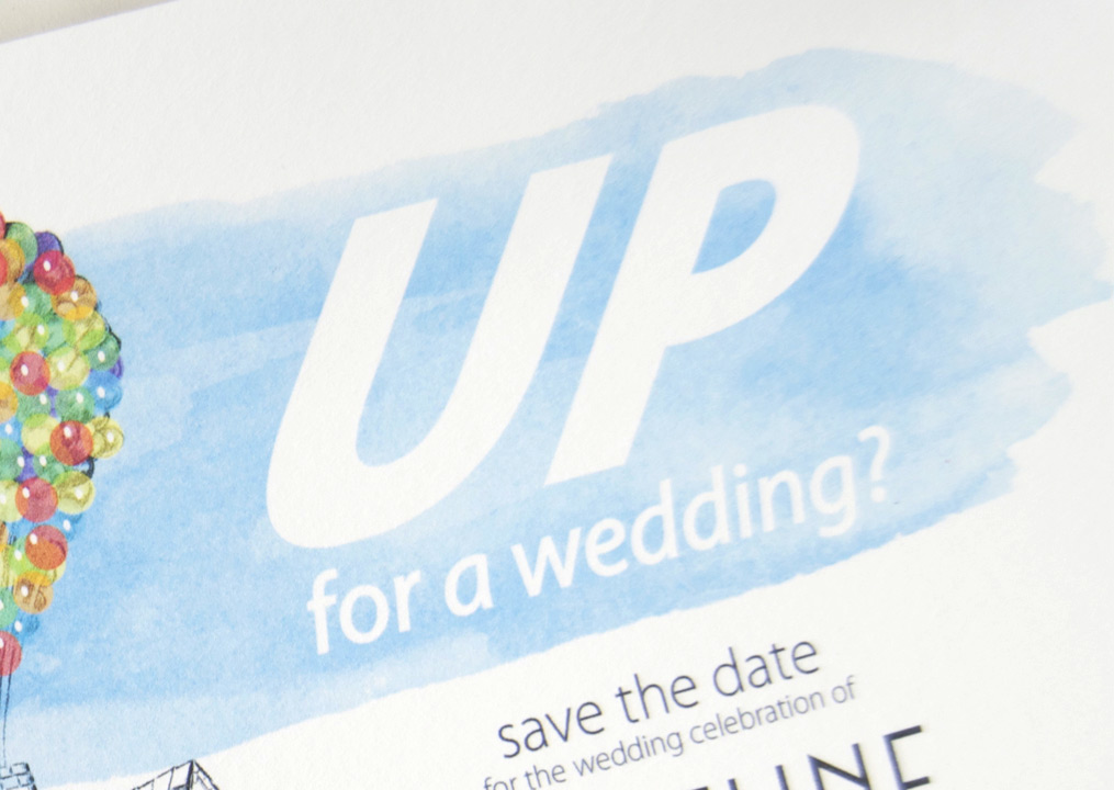 UP Wedding Disney Inspired Save The Date Cards