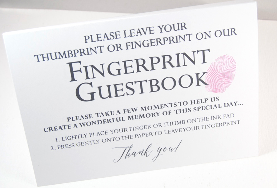 Fingerprint Elm Tree Wedding Guest Book Alternative