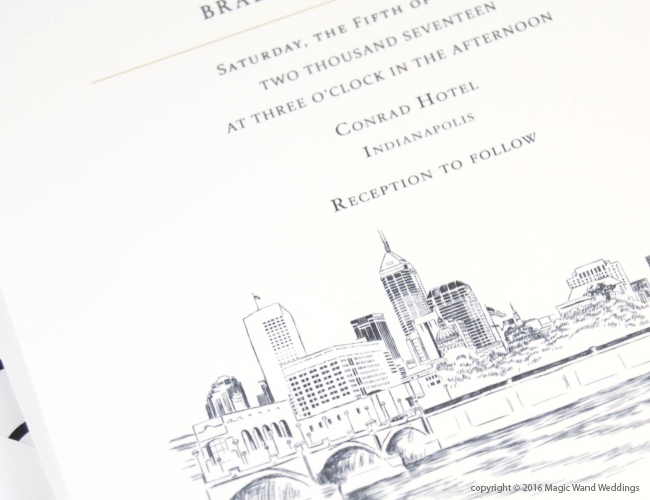 Wedding Invitations Indianapolis: Indianapolis Skyline Wedding Invitations