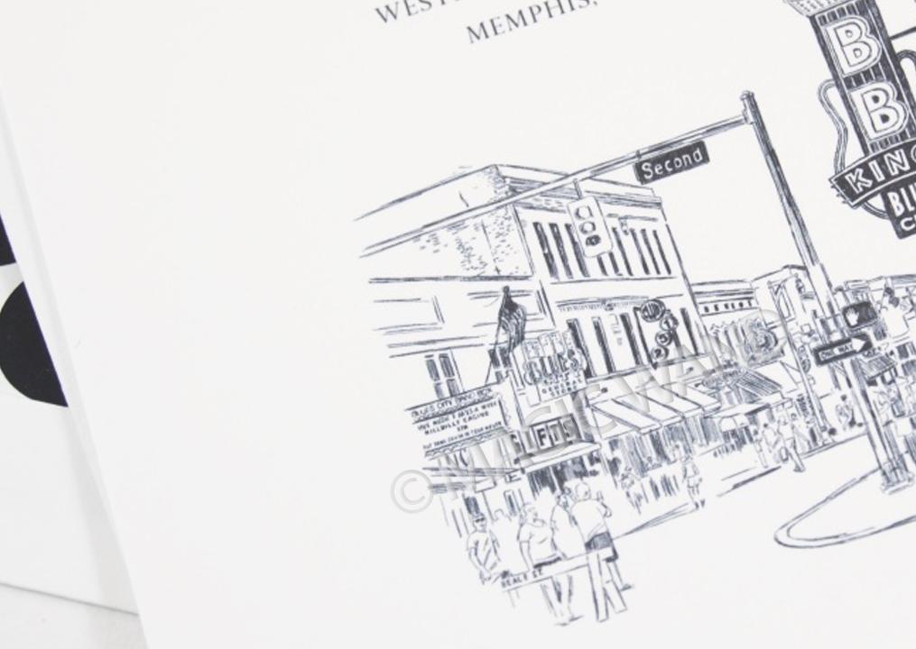 Wedding Invitations Memphis Tn: Memphis, Beale Street Wedding Invitations