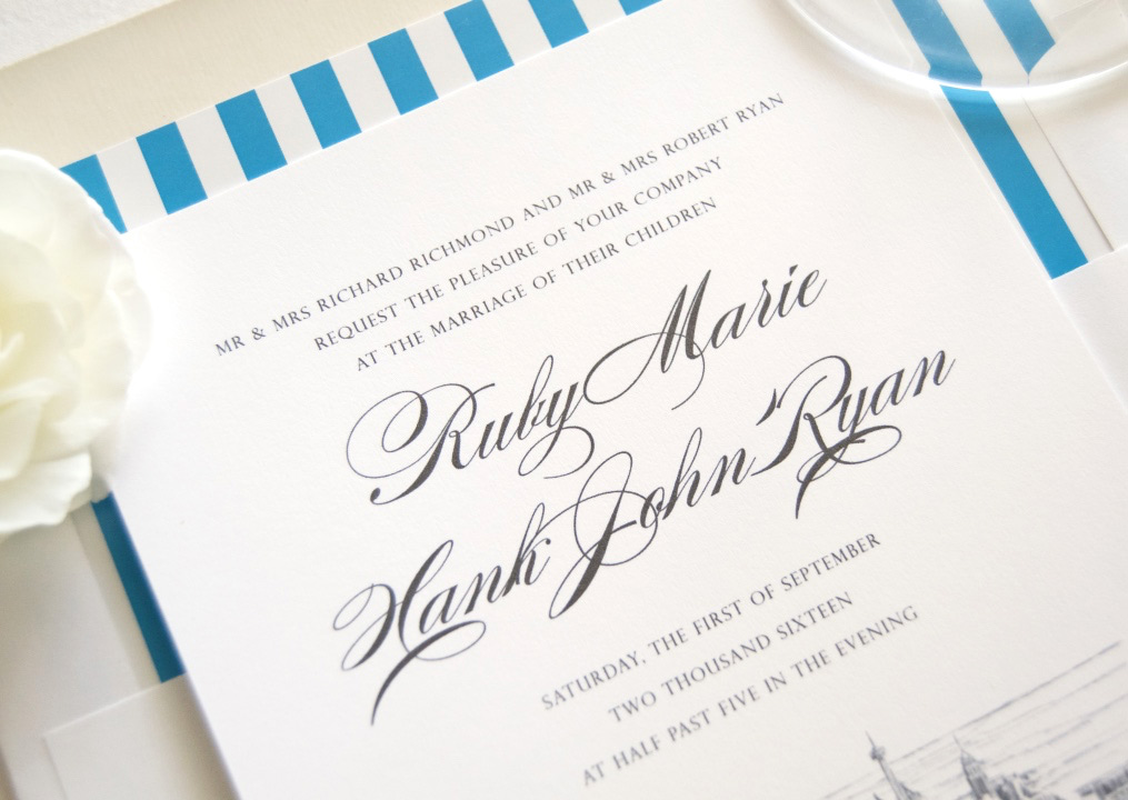 San antonio skyline wedding invitations for Wedding invitation printing san antonio