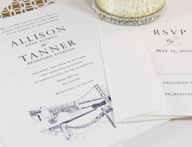 San francisco skyline wedding invitations more images stopboris Choice Image