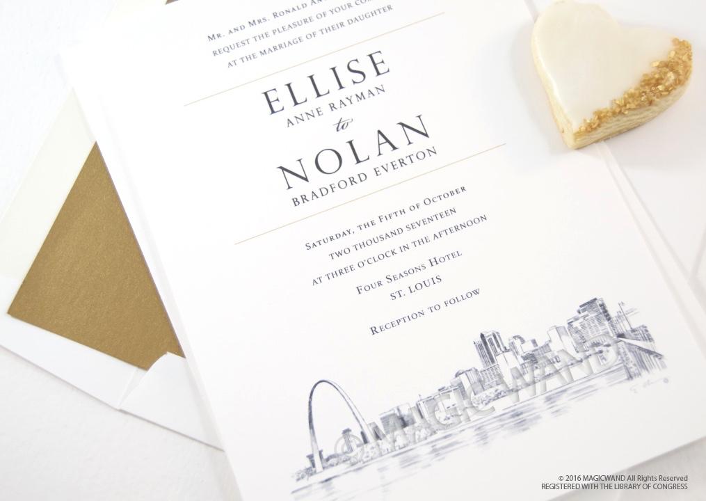 St Louis Skyline Wedding Invitations