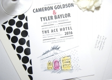 Ace Hotel Palm Springs Skyline Wedding Invitations