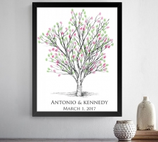 apple tree fingerprint guestbook