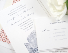 Las Vegas Aria Resort Skyline Wedding Invitations