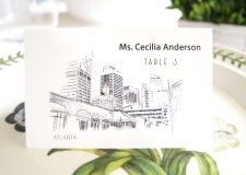 Atlanta Skyline Place Cards