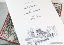Atlanta Skyline Wedding Programs