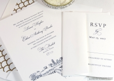 Austin, Texas Skyline Wedding Invitations