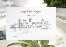 BaltimoreSkyline Place Cards