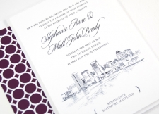 Baltimore Skyline Wedding Invitations