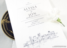 Baltimore Skyline Wedding Programs