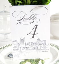 Baltimore Skyline Table Numbers