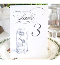 Beauty and the Beast Table Numbers