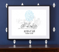 bicycle built for two guestbook print