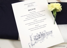 birmingham skyline  menu cards