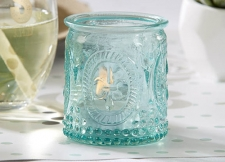 Vintage Blue Glass Tealight Holders