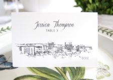 Boise Skyline Place Cards