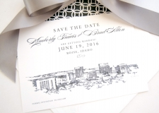 Boise Skyline Save the Date Cards