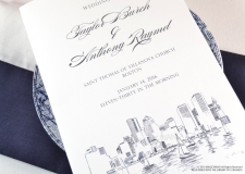 Boston Skyline Wedding Programs