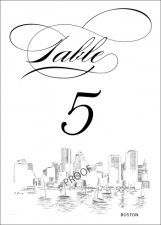 Boston Skyline Table Numbers
