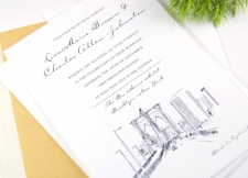 Brooklyn Skyline Wedding Invitations