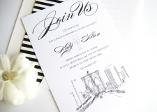 Brooklyn Skyline Rehearsal Dinner Invitations