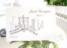 Brooklyn Skyline Place Cards
