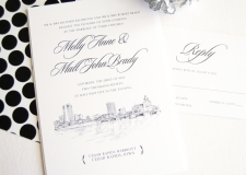 Cedar Rapids Skyline Wedding Invitations