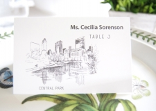 Central Park Skyline Place Cards