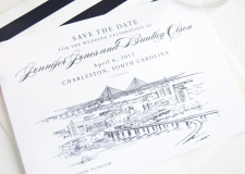 Charleston Skyline Save the Date Cards