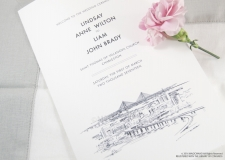 Charleston  Skyline Wedding Programs