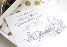 Charlotte Skyline Save the Date Cards