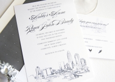 Charlotte Skyline Wedding Invitations