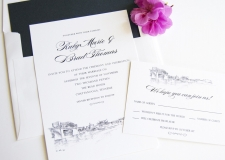 Chattanooga Skyline Wedding Invitations