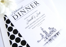 Chicago Skyline Rehearsal Dinner Invitations