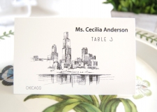 Chicago Skyline Place Cards