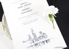 Chicago Skyline Wedding Programs